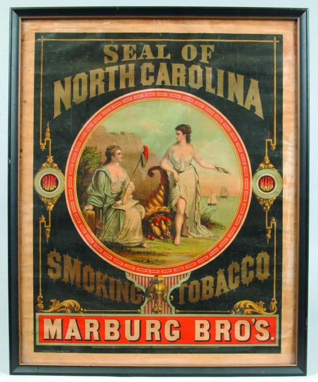 296: Good 19th Century Tobacco Advertising Lithograph m
