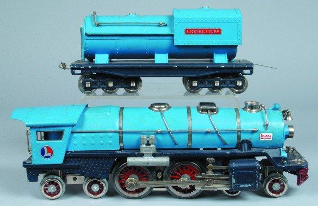 6: Lionel Standard Gauge 400E Blue Comet. Nice professi