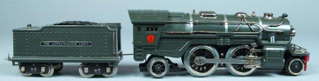 7: Standard Gauge Lionel #385E Engine and Tender. Nice