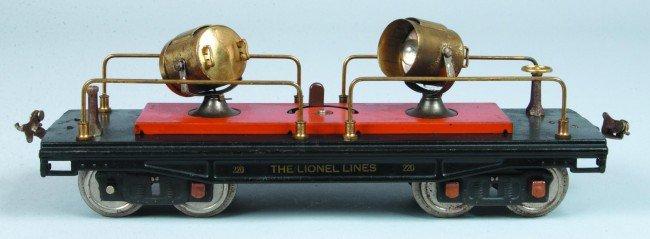 11: Lionel #220 Searchlight Car (Type 1) circa 1931. Ov