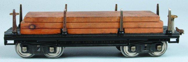 12: Lionel Standard Gauge #211 Flat Car (Type 1) circa