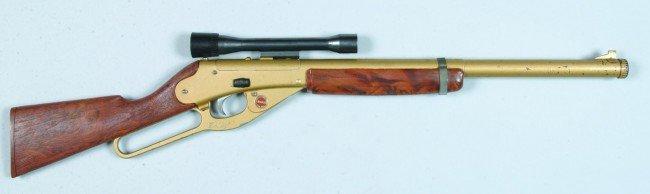 424: Daisy Model 104 BB Gun, (top of barrel) with scope