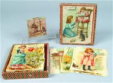 804: Two Child's Block Sets: one 20 pc. Lithograph pape