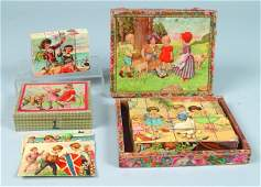 806: Two Child's Block Sets in Boxes: one 12 pc. Lithog