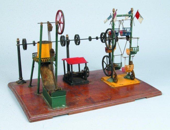 "853: Model Steam Engine Amusment Park, 15"" x 21-1/2"", n"