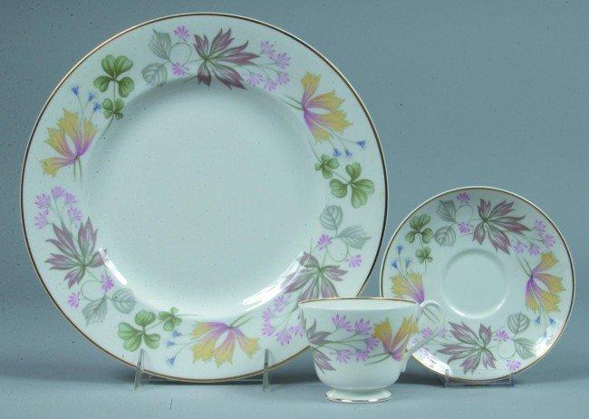 1: Shelley China Columbine pattern Luncheon Trio: Plate