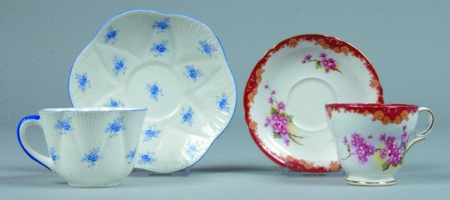 3: Two Shelley China Cups and Saucers, one Dainty Blue