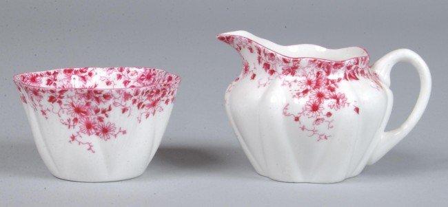 5: Shelley China Dainty Pink Miniature Creamer and Suga