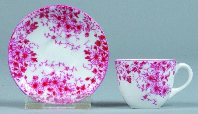 6: Shelley China Dainty Pink Pattern Miniature Tea Cup