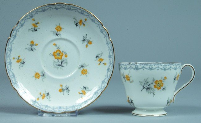 """7: Shelley China Charm pattern Cup and Saucer, 3"""" h. x"""