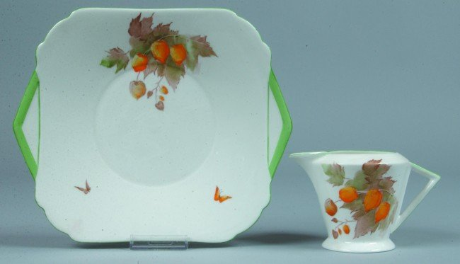 9: Shelley China Cape Gooseberry pattern Server Plate a