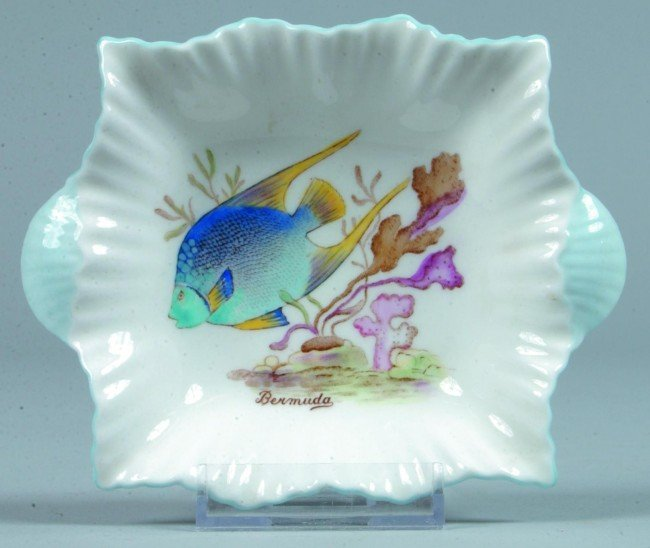 21: Shelley China Angel Fish Bermuda pattern Dish/Ashtr
