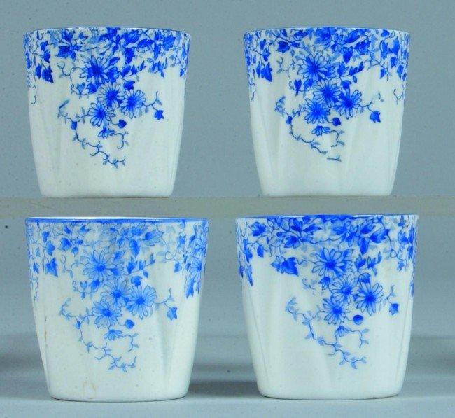 22: Four Shelley China Dainty Blue pattern Handleless C