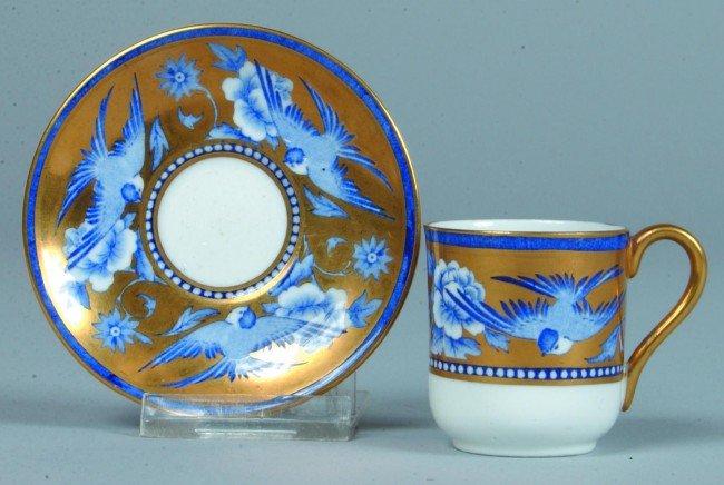 598: Shelley China Blue Swallows #8190 pattern Miniatur