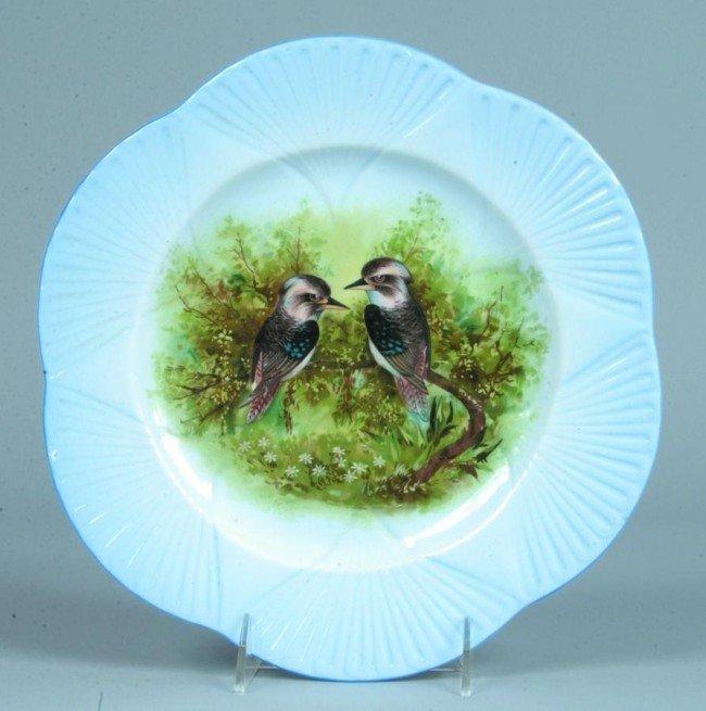 615: Shelley China Kookaburras transfer Plate with embo