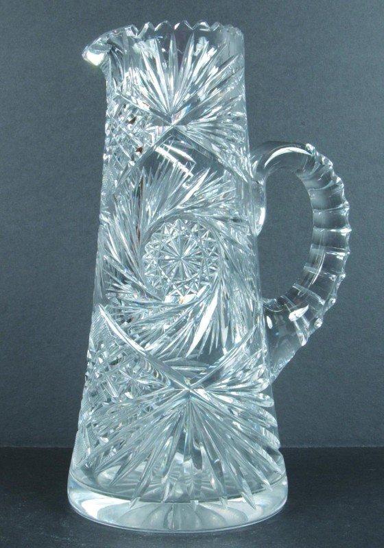 6: American Brilliant Cut Glass Pin-wheel Design Tapere