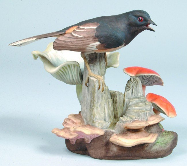 """9: Boehm """"Towhee"""" (with mushrooms) Limited Edition Bone"""