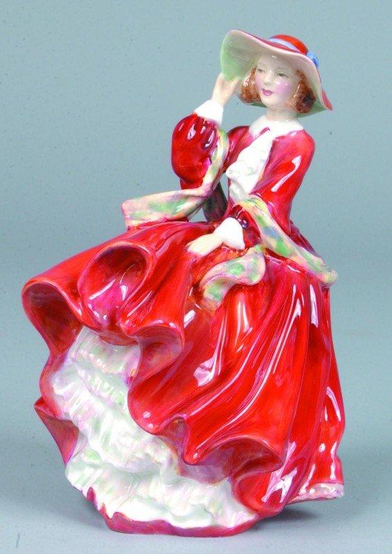 "22: Royal Doulton Porcelain Figurine ""Top o' the Hill"","