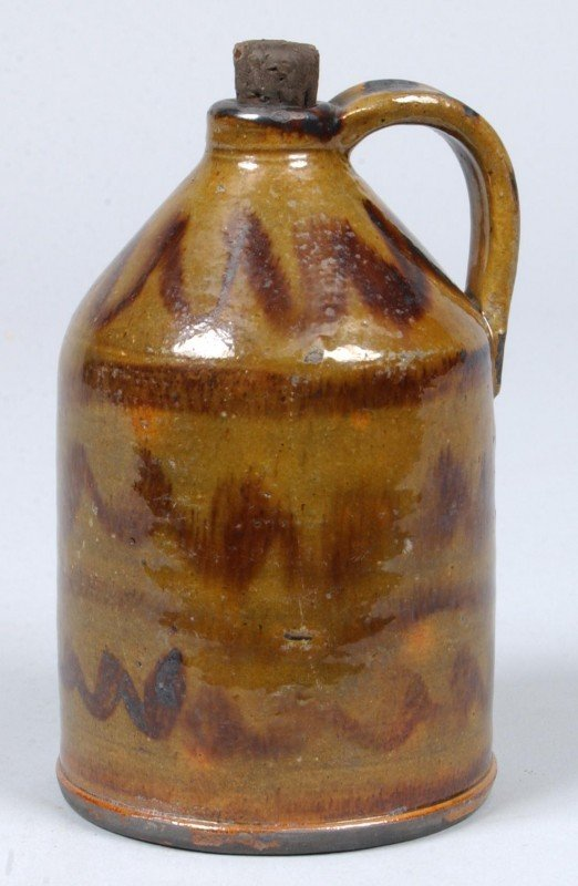 2: Greg Shooner 2004 Glazed Redware Pottery Small Jug w