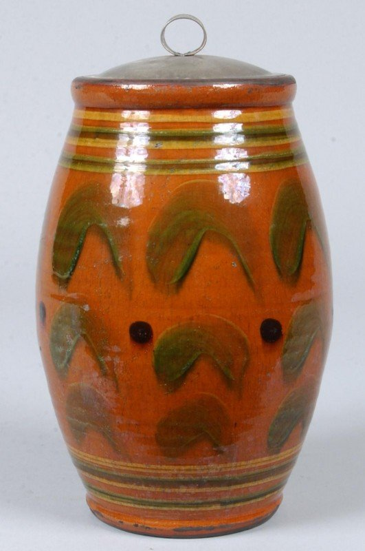 5: Greg Shooner 2004 Glazed Redware Pottery Bulbous For