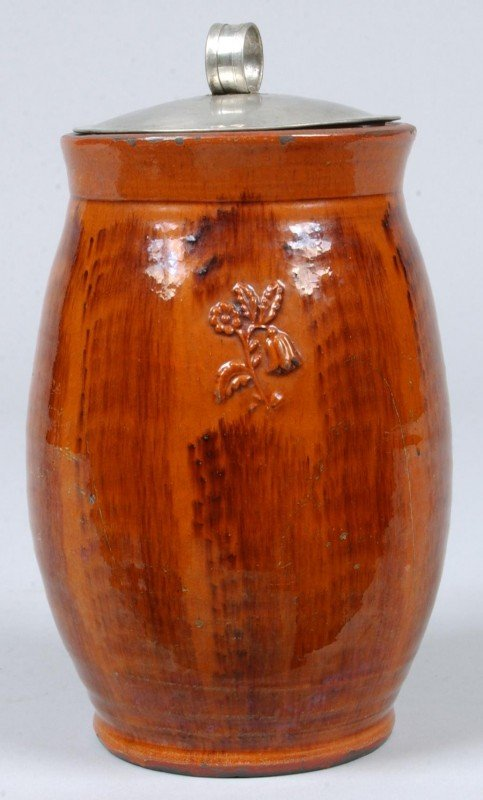 17: Greg Shooner 2003 Brushed Glazed Redware Pottery Bu