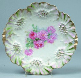 """5: RS Prussia Cake Plate, 11""""d, Mold 31 with pierced ha"""