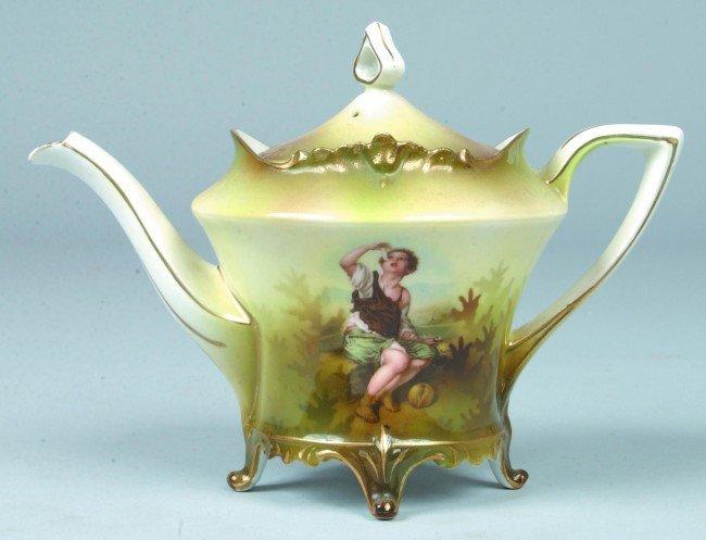 "10: RS Prussia Tea pot, 4.75""d x 6.25""h, Mold 648; FD:"