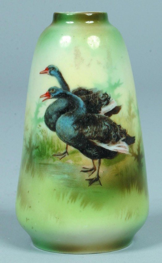 """17: RS Prussia/Poland Small Vase, marked: """"Poland China"""