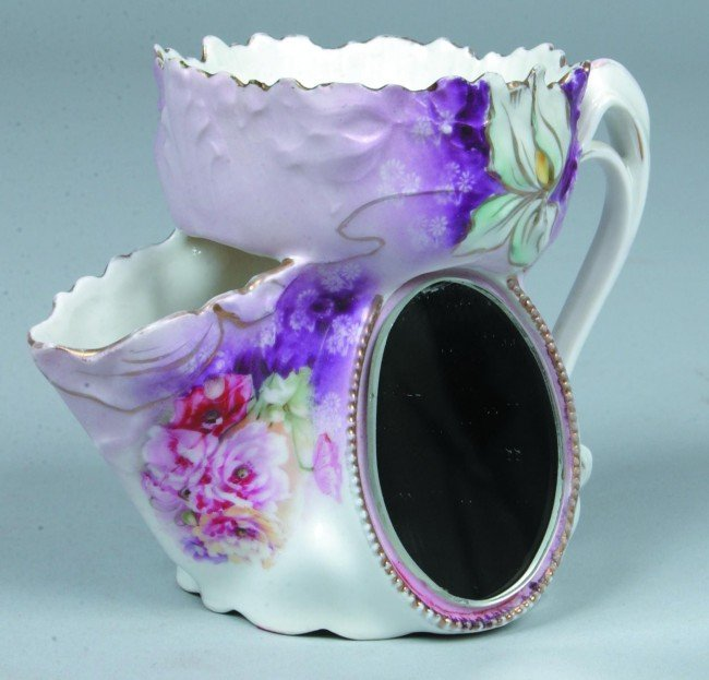 """24: RS Prussia Scuttle Shaving Cup with oval mirror, 3"""""""