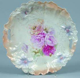 """RS Prussia Cake Plate, 10.25""""d., Mold 28 With 2 Pie"""
