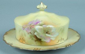 """RS Prussia Covered Butter Dish, 3.5""""h. X 7.75""""d., M"""