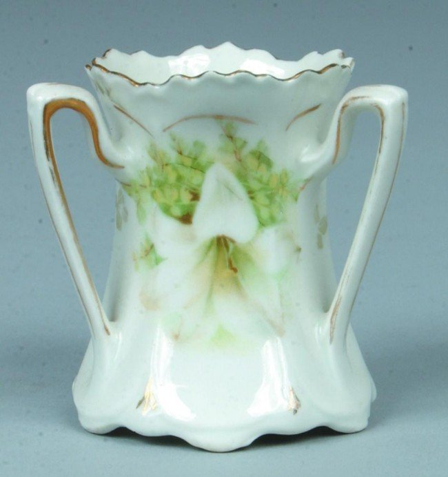 """77: RS Prussia Toothpick, 2.25""""h.; 3 handled """"Loving Cu"""