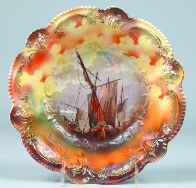 """83: RS Prussia Bowl, 9""""d.; Mold 207; Interior design of"""
