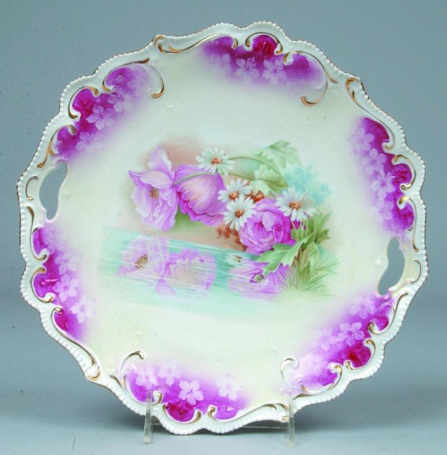"""86: RS Prussia Cake Plate, 11""""d.; Mold 304; FD 36; deep"""