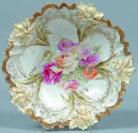"RS Prussia Bowl, 10.25""d.; Mold 28a Carnation Vari"