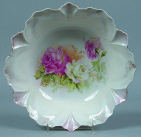 "RS Prussia Bowl, 10.5""d.; Mold 253; Pink And White"