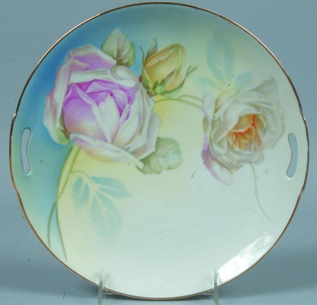 "194: ES Germany Cake Plate, 9.5""d.; smooth round mold w"