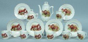 "365: RS Prussia 15piece Child's Tea Set, Pot: 4.25""h.,"