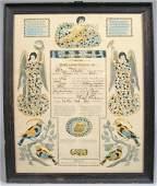 221 Illuminated Taufschein in German printed record