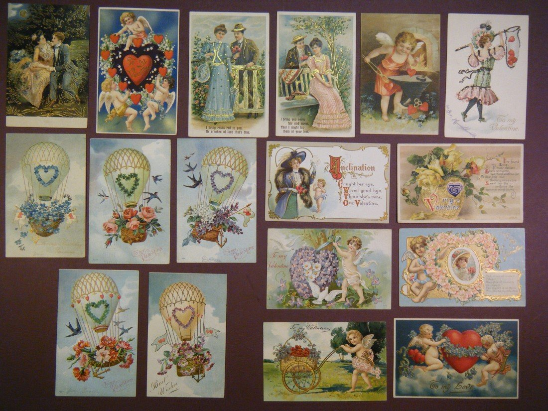 11: (Lot of 40 vintage (late Victorian) PCs and other v