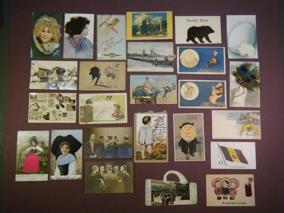 12: (43 vintage novelty & dog PCs) 25 novelty & related