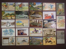 (23 Vintage PCs Of Trains, Cars, & Bicycles) Incl 2