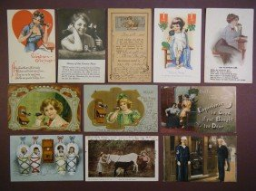 15: (Telegraphs and Telephones) 27 vintage postcards in