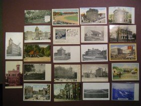 17: (Miscellany from 5 PA counties) 48 vintage PCs from