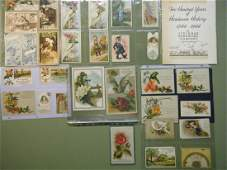 505: 39 various Lancaster City victorian trade cards, m