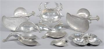 58: Eight Pieces of Aluminum by Bruce Fox, crab and lob