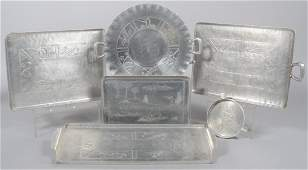 98: Six Pieces of Everlast Aluminum with Embossed Sport