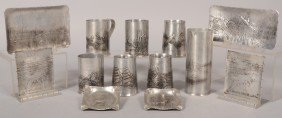 13 Pieces Of Wildlife And Hunting Motif Aluminum B