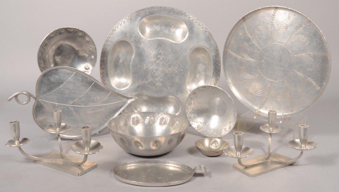 169: Ten Various Pattern Pieces of Palmer- Smith Alumin