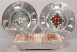 172: Three Pieces of Cellini-Craft Aluminum with Glazed